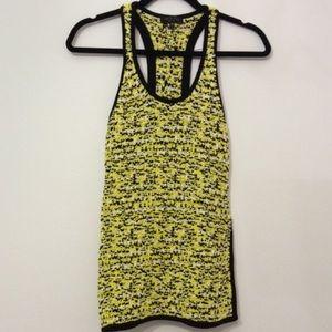 Rag & Bone yellow and black knit top